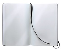 A5 notebook with soft PU cover and 96 blank pages closed by an e
