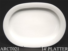 "91544 Arctic White 14"" Platter - Min Orders Apply"