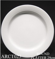 91505 Arctic White Round Platter 29 - Min Orders Apply