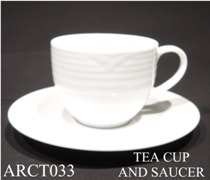 91589 Arctic White Tea Cup & Saucer - Min Orders Apply
