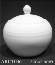 91527 Arctic White Sugar Bowl - Min Orders Apply