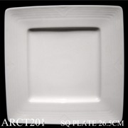 91502 Arctic White Square Plate Large 26Cm - Min Orders Apply