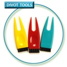 Fixer - Plastic divot tools with Brush