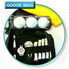 Black 600d Deluxe Nylon Goodie Bag med