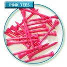 Long 2-3/4 pink colour wooden tees