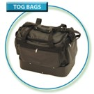 Large Double Decker Leathette Tog Bag
