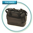Med Double Decker Leatherette Tog Bag