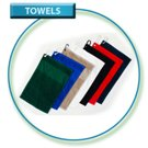 Black 430gsm Golf Towel 50x32 inc clip