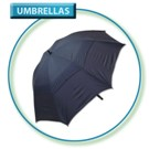 Black (Solid) Gust Buster Golf Umbrella