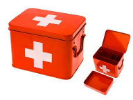 Medicine Storage Box Metal - Medium - Min Order: 2