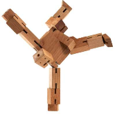 Eco Cubebot Medium - Wooden Cube Robot - Min Order: 2
