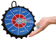 Bottle Cap Dart Board - Drinking Game - Min Order: 4