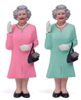 Solar Powerd Waving Queen of England - Min Order: 6