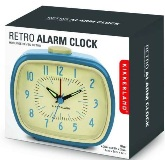 Retro Alarm Clock - Blue - Min Order: 4 units