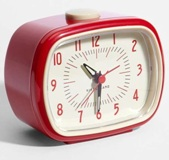 Retro Alarm Clock - Red - Min Order: 4 units