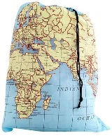 World Map Laundry / Drawstring Bag - Min Order: 8 units