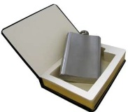 Flask In A Book - Min Order: 4 units