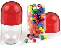 Sugar Fix - Pill Shaped Glass Container - Min Order: 4 units
