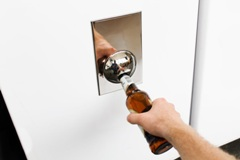 Steel Fridge Bottle Opener - Min Order: 10 units