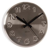 Wall clock bold engraved numbers steel - Min Order: 2 units