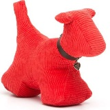 Dog Doorstop - Red Jumbo Cord - Min Order: 2 units