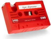 Cassette Tape Dispenser - Red - Min Order: 6 units