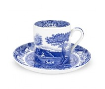 Portmeiron - Blue Italian Cup &Saucer 0.1L - Min Orders Apply