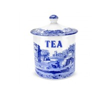 Portmeiron - Blue Italian Tea Canister 15Cm - Min Orders Apply