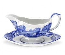 Portmeiron - Blue Italian Gravy Boat 0.28L - Min Orders Apply