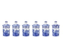 Portmeiron - Blue Italian Spice Jar Set 6 - Min Orders Apply