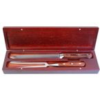 Yorkville Fork And Carving Knife - Brown