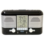 Swiss Lcd Radio Alarm Clock - Black
