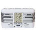 Swiss Lcd Radio Alarm Clock - White