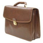 Tony Perotti Folio Bag - Tan