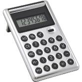 Hydraulic Flip Top Calculator - With leather trim  - Silver