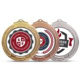 BRT Dome Medal - Avail in: Silver, Gold or Bronze