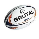 Brutal Rugby Ball - S001 - Avail in: Bottle/Gold, Navy/Orange