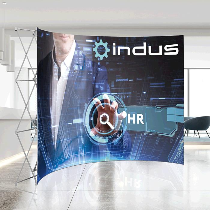 Banner Walls Curved with Wings 3.2m x 2.25m