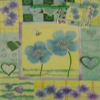 Gift Bag - glitter - Flower+Bee - Medium