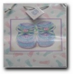 Gift bag glitter baby feet medium