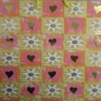 Gift Bag - hotstamp - Hearts & flowers - large