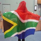Cape with hood - material - RSA flag design