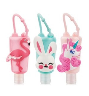 Silicone Hand Sanitizer Holder Including Bottle. Assorted Design