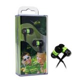Canyon Headphone - In the ear - 1.35mm - Black and Green    - 24