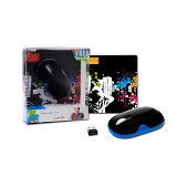 Canyon Wireless Mouse  and mouse pad - 800/1600dpi, 3 button, US