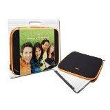 "Canyon Notebook Sleeve 15.4"" Black with Orange Trim  - 24 Month"