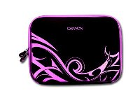 "Canyon Notebook Sleeve 10"" Tribal design - Black and Pink  - 24"