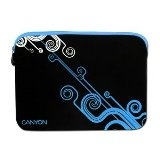 "Canyon Notebook Sleeve 10"" Modern design - Black and Blue  - 24"