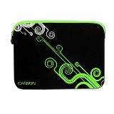"Canyon Notebook Sleeve 10"" Modern design - Black and Green - 24"