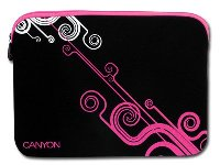 "Canyon Notebook Sleeve 10"" Modern design - Black and Pink  - 24"